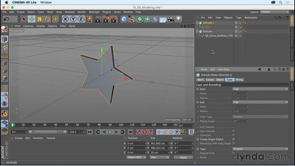 Exploring modeling in CINEMA 4D Lite: After Effects CC Essential Training (2015)