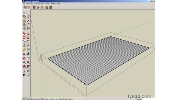 Sculpting with the Smoove tool: SketchUp 6 Essential Training