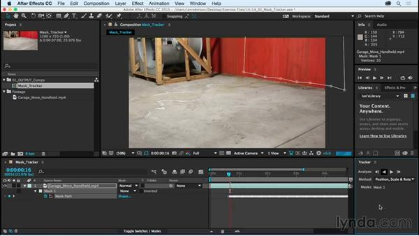 Working with the Mask Tracker: After Effects CC Essential Training (2015)