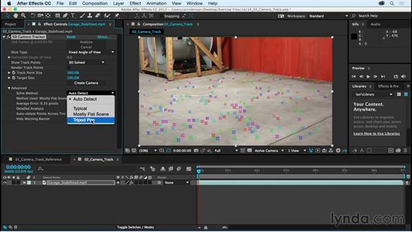 Solving cameras: After Effects CC Essential Training (2015)