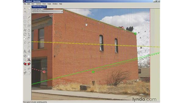 Using Photo Match to align cameras: SketchUp 6 Essential Training