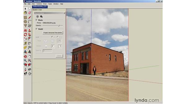 Modeling in Photo Match: SketchUp 6 Essential Training
