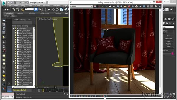 The revamped frame buffer with advanced color controls: V-Ray 3.0 for 3ds Max Essential Training