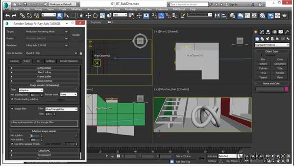 Understanding subdivs: V-Ray 3.0 for 3ds Max Essential Training