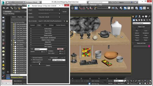 Overview of color mapping: V-Ray 3.0 for 3ds Max Essential Training