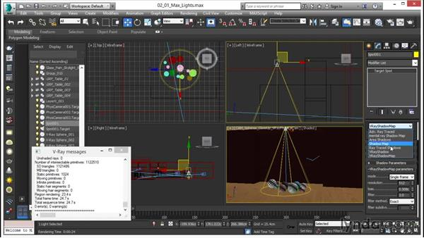 Using 3ds Max light types with V-Ray: V-Ray 3.0 for 3ds Max Essential Training