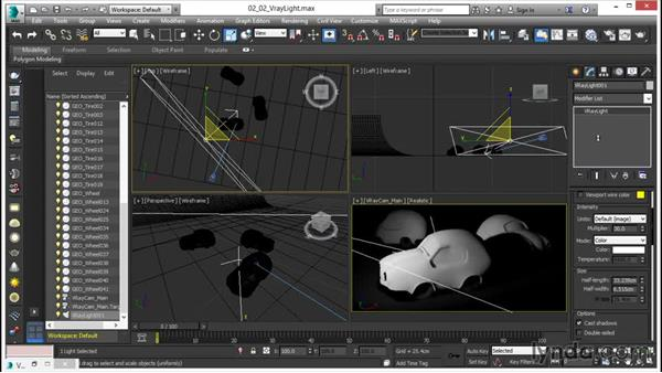 Working with the V-Ray light: V-Ray 3.0 for 3ds Max Essential Training