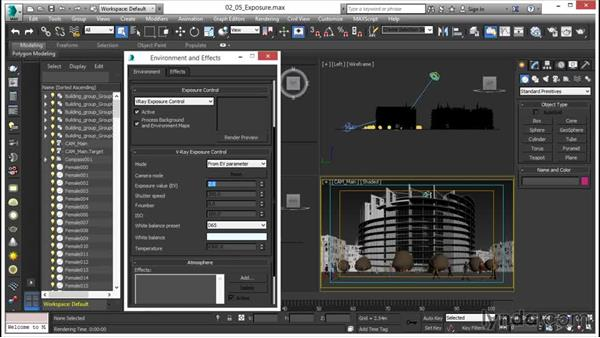 Controlling global exposure: V-Ray 3.0 for 3ds Max Essential Training