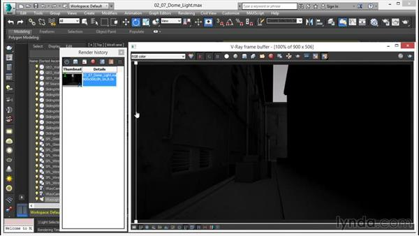 Working with the V-Ray dome light: V-Ray 3.0 for 3ds Max Essential Training