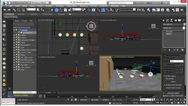 Creating a mesh light: V-Ray 3.0 for 3ds Max Essential Training