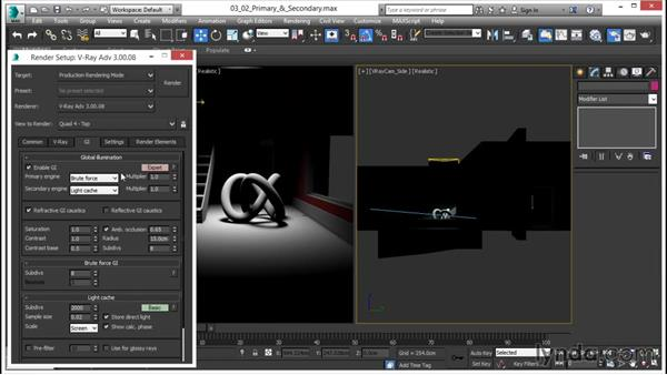 Understanding primary and secondary bounces: V-Ray 3.0 for 3ds Max Essential Training