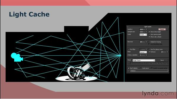 How light cache works: V-Ray 3.0 for 3ds Max Essential Training