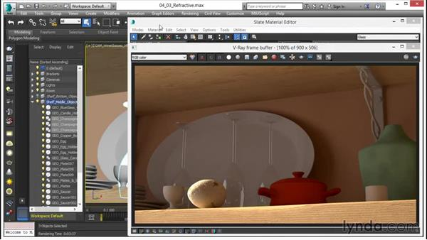 Making a clear glass material: V-Ray 3.0 for 3ds Max Essential Training