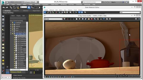 Making colored and frosted glass: V-Ray 3.0 for 3ds Max Essential Training