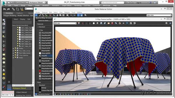 Creating a translucency effect: V-Ray 3.0 for 3ds Max Essential Training