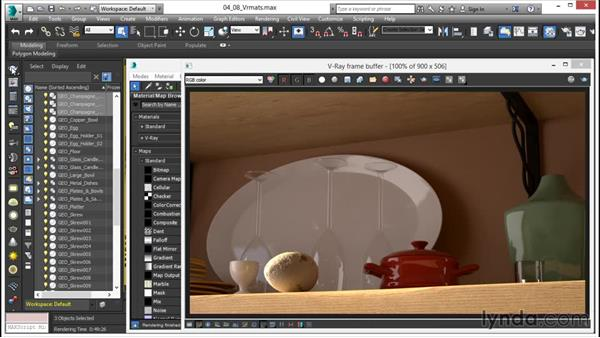 Using VRmats: V-Ray 3.0 for 3ds Max Essential Training