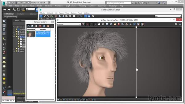 New simplified skin shader: V-Ray 3.0 for 3ds Max Essential Training