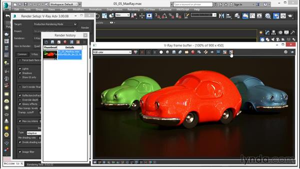 Fixing super bright sampling problems: V-Ray 3.0 for 3ds Max Essential Training