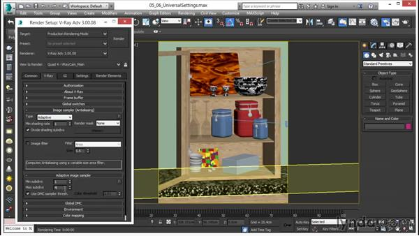 Using universal settings: V-Ray 3.0 for 3ds Max Essential Training