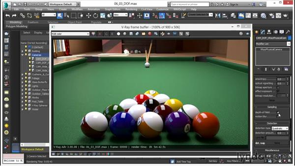 Depth of field: V-Ray 3.0 for 3ds Max Essential Training