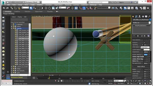 Creating a Motion Blur effect: V-Ray 3.0 for 3ds Max Essential Training