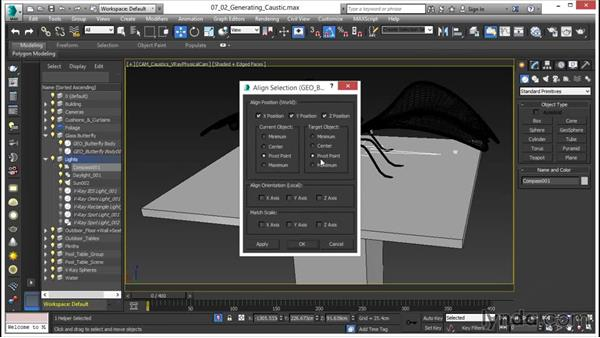 Generating the caustic effect: V-Ray 3.0 for 3ds Max Essential Training