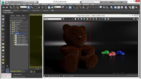 Using VRayFur: V-Ray 3.0 for 3ds Max Essential Training