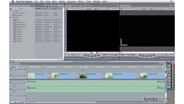 Learning the interface: Final Cut Express 4 Essential Training