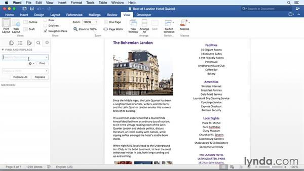 Navigating efficiently with the Navigation pane: Office for Mac 2016 New Features