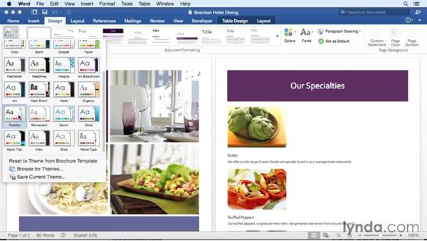 Investigating new themes: Office for Mac 2016 New Features