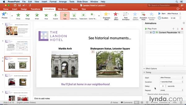 Building presentations faster with the Animation pane: Office for Mac 2016 New Features