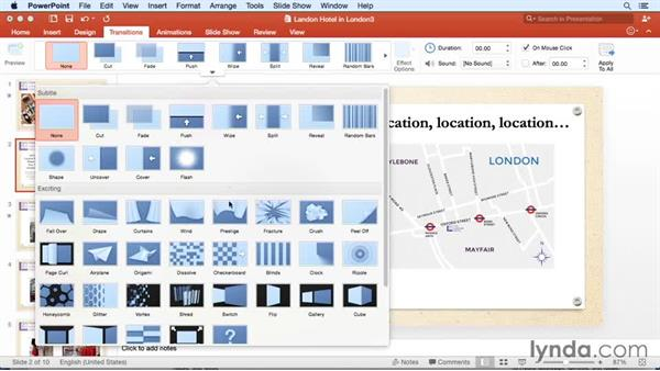 Exploring new slide transitions: Office for Mac 2016 New Features