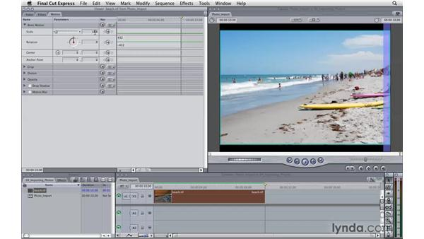 Importing photos: Final Cut Express 4 Essential Training