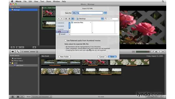 Importing iMovie '08 projects: Final Cut Express 4 Essential Training