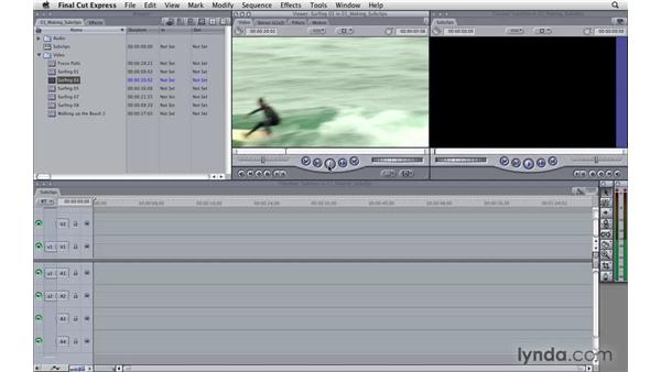 Making subclips: Final Cut Express 4 Essential Training