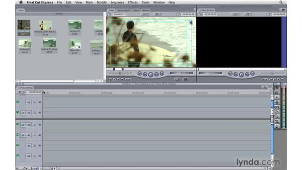 Three-point editing: Final Cut Express 4 Essential Training