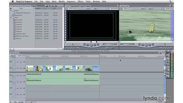 Moving clips around in the timeline: Final Cut Express 4 Essential Training