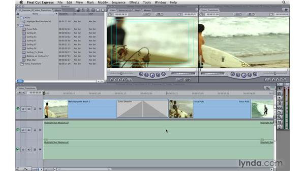 Overview of video transitions: Final Cut Express 4 Essential Training
