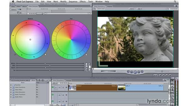Correcting problems with exposure: Final Cut Express 4 Essential Training