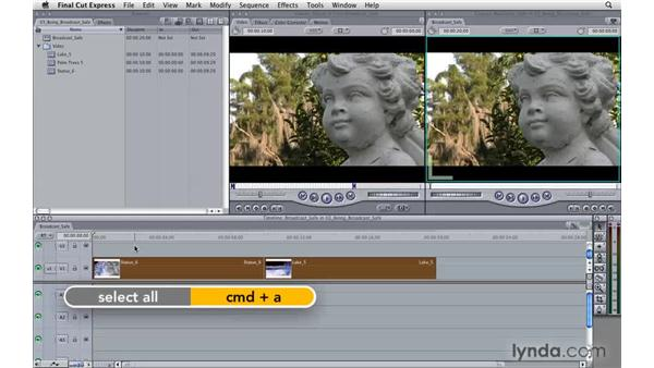 Being broadcast-safe: Final Cut Express 4 Essential Training