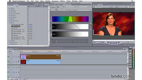 Keying video clips: Final Cut Express 4 Essential Training