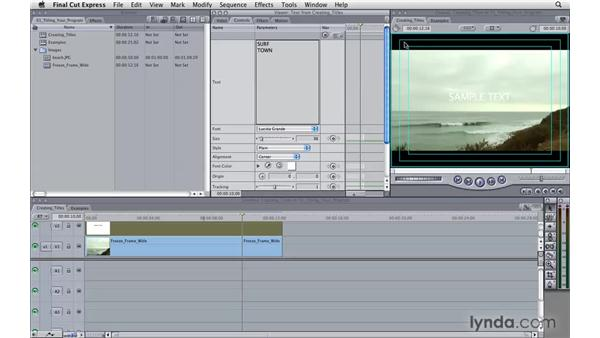 Titling your program: Final Cut Express 4 Essential Training