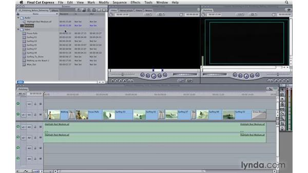 Polishing before delivering: Final Cut Express 4 Essential Training