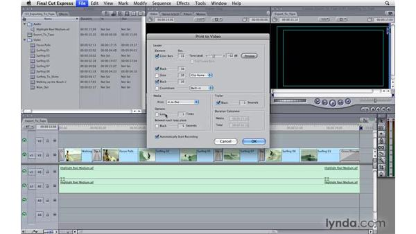 Exporting to tape: Final Cut Express 4 Essential Training