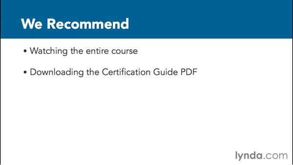 Preparing for a certification exam: Revit Architecture 2016 Essential Training (Imperial)