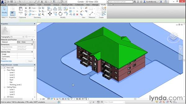 Understanding context ribbons: Revit Architecture 2016 Essential Training (Imperial)
