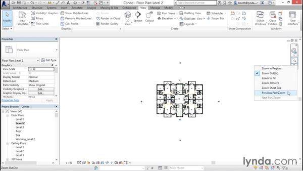 Navigating views (zooming, panning, and rotating): Revit Architecture 2016 Essential Training (Imperial)
