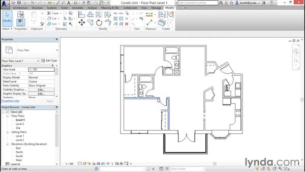 Selecting objects: Revit Architecture 2016 Essential Training (Imperial)