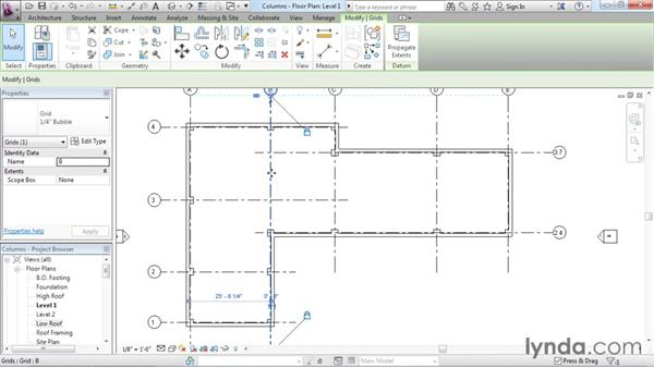 Adding columns: Revit Architecture 2016 Essential Training (Imperial)