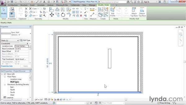 Wall properties and types: Revit Architecture 2016 Essential Training (Imperial)